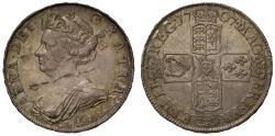 World Coins - Anne 1707 E Halfcrown, Edinburgh Mint
