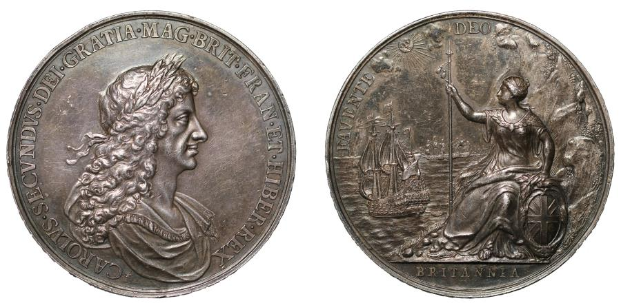 World Coins - Charles II, Peace of Breda, Favente Deo.