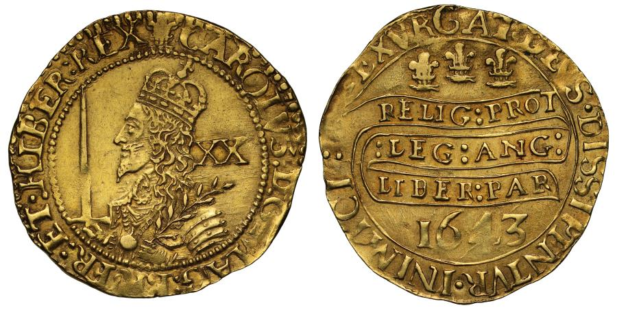 World Coins - Charles I 1643 Oxford Unite