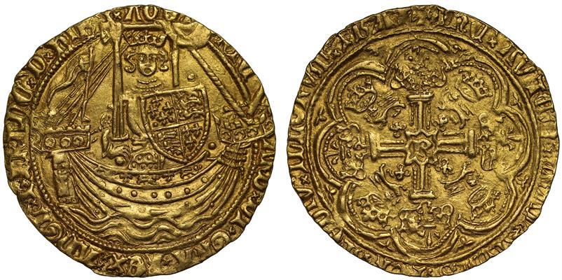 World Coins - Richard II gold Noble, Calais Mint, type 3c