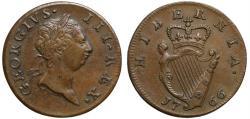 World Coins - Ireland, George III 1766 copper Halfpenny