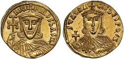 Ancient Coins - Nicephorus I and Stavracius gold Solidus, Constantinople