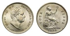 World Coins - William IV 1836 Groat of Fourpence