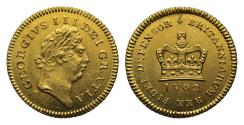 Ancient Coins - George III 1802 Third Guinea