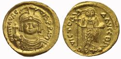 Ancient Coins - Maurice Tiberius, Gold Lightweight Solidus