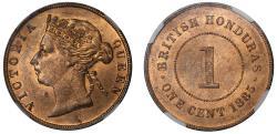 World Coins - British Honduras, Cent, 1885.