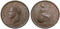 World Coins - George IV 1826 copper Penny
