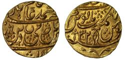 Ancient Coins - Awadh, Gold Mohur in the name of Shah Alam II.