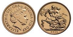 World Coins - Elizabeth II 2015 SOTD Sovereign - Birth of Princess Charlotte