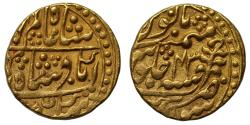 World Coins - Jaipur, Mohur in the name of Shah Alam II
