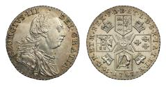 World Coins - George III 1787 Shilling, with partial semée of hearts