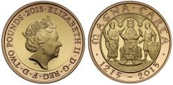 World Coins - Elizabeth II 2015 gold proof Two-Pounds Magna Carta