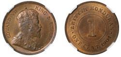 World Coins - British Honduras, Cent, 1904.