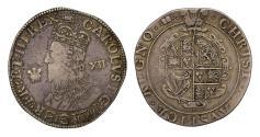 World Coins - Charles I Shilling Aberystwyth Mint