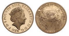 Ancient Coins - Elizabeth II 2015 proof Five-Pounds - Waterloo
