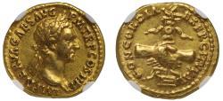 Nerva, gold Aureus Ch XF, 5/5, 4/5.