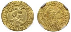 World Coins - Scotland, James V 1540 Bonnet Piece of Forty Shillings, Renaissance Coin Art