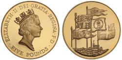 Elizabeth II 1996 proof Five Pounds - Queen Elizabeth II 70th Birthday