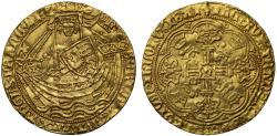 World Coins - Henry VI Noble Annulet issue York Mint, lis over stern of ship, mint mark lis