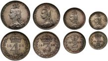 World Coins - Victoria 1888 Maundy Set, first year for Jubilee head on Maundy