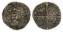 World Coins - Richard III Groat London mm sun and rose 1 rev. sun and rose 2