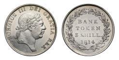 World Coins - George III 1814 Three Shillings Bank Token