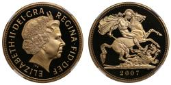 World Coins - Elizabeth II 2007 proof Five-Pounds PF69 ULTRA CAMEO
