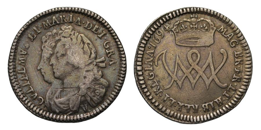 World Coins - Scotland, William and Mary 1694 Five Shillings