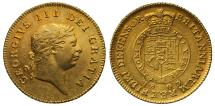 World Coins - George III 1809 Half-Guinea