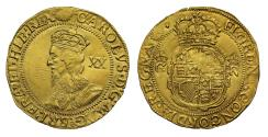 Ancient Coins - Charles I Unite mm sun over eye