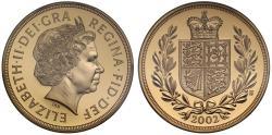 Elizabeth II 2002 proof Five-Pounds PR70 DEEP CAMEO