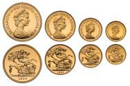 World Coins - Elizabeth II 1980 4-coin proof Set
