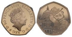 World Coins - * Elizabeth II 2019 gold proof Fifty Pence PF70 UCAM - Paddington at St Pauls