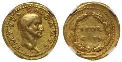 Galba, gold Aureus, Ch VF 4/5, 4/5, Fine Style.
