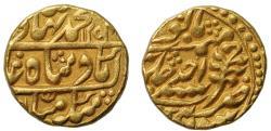 World Coins - Jaipur, Year One Mohur in the name of Bahadur Shah II