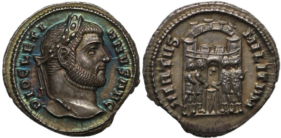 Ancient Coins - Diocletian, Silver Argenteus