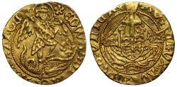 World Coins - Edward IV gold Half-Angel, mm cinquefoil