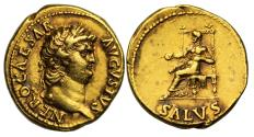 Ancient Coins - Nero, Gold Aureus. Mint of Rome