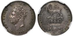World Coins - George IV 1825 Pattern Shilling PF62