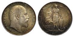 World Coins - Edward VII 1905 Florin PCGS MS62