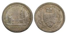 World Coins - 19th century silver token, Gloucester City Shilling, 1811, rare variety with .&.