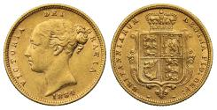 World Coins - Victoria 1884 Half-Sovereign, fifth young head