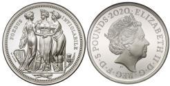 World Coins - Elizabeth II 2020 silver PF70 UCAM 2oz Three Graces
