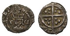 World Coins - Henry VIII Halfpenny, Archbishop Thomas Cranmer issue, mm Catherine Wheel