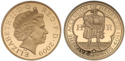 World Coins - Elizabeth II 2009 gold Crown, 500th Anniversary of the Accession of Henry VIIi