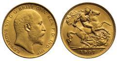 World Coins - Edward VII 1907 Half-Sovereign, London