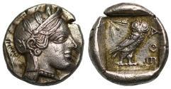 Ancient Coins - Attica, Athens, Silver Drachm