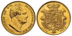 World Coins - William IV 1832 Sovereign, second bust