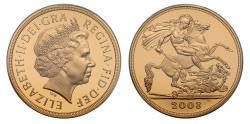 World Coins - Elizabeth II 2008 proof Five-pounds PR70 DCAM