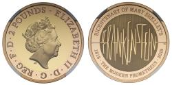 World Coins - Elizabeth II 2018 PF69 UCAM Two-Pounds - Frankenstein